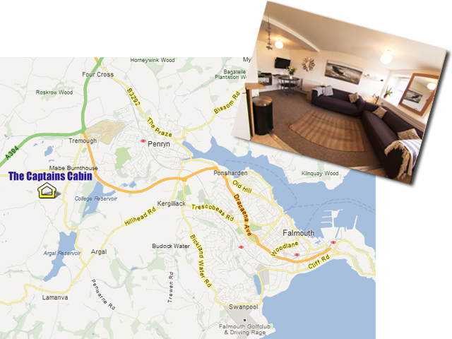 The Captains Canin - Location for Self Catering Falmouth Cornwall